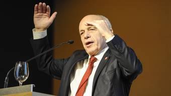 Ueli Maurer am Podium zur Unternehmenssteuerreform III