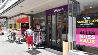 Der Laden an der Baslerstrasse 37 in Olten wird bis Anfang November als OVS-Store neu eröffnet.