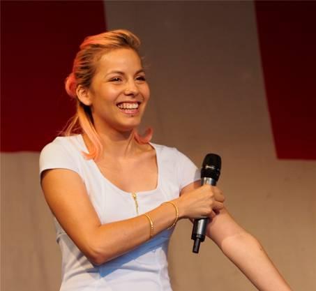Karen Schwegler brachte «Stimmung» ins Publikum.