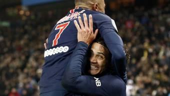 Kylian Mbappé und Edinson Cavani schossen je drei Tore beim höchsten Meisterschafts-Heimsieg des PSG der Geschichte