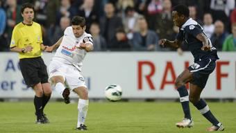 FCA-Skorer Davide Calla erzielt das wichtige 1:0 gegen Schlusslicht Locarno