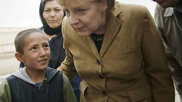 Angela Merkel in Afghanistan