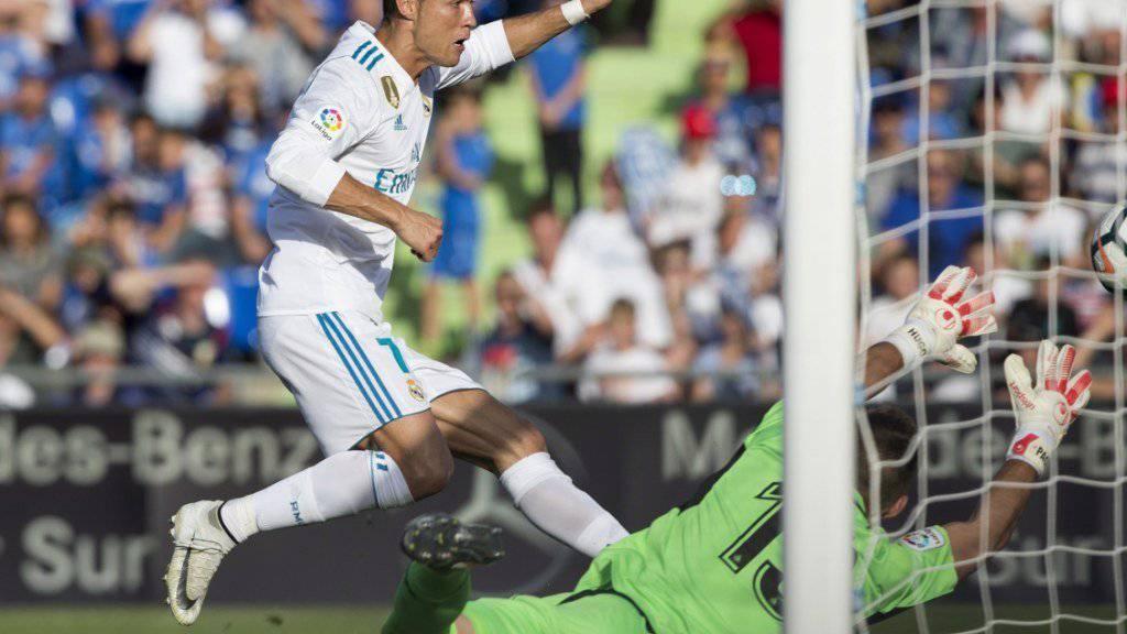 Cristiano Ronaldo entscheidet die Partie für Real Madrid.