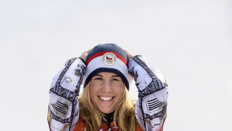 Sie überstrahlt alle an den Winterspielen in Pyeongchang: Ester Ledecka