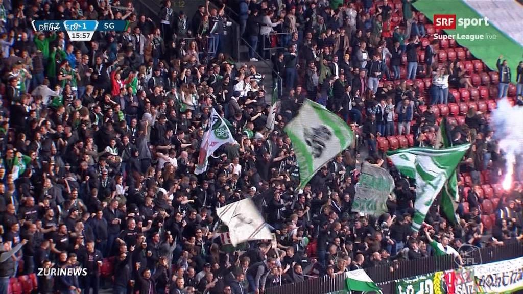 Fans von FC St. Gallen gehen auf Zürcher Polizisten los