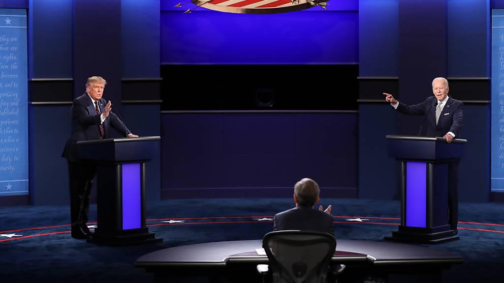 Erstes TV-Duell: Trump und Biden bekämpfen sich heftig
