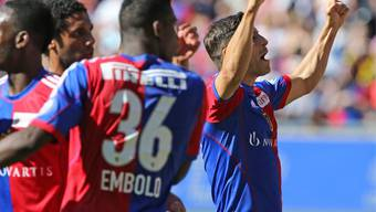 Im letzten Meisterschaftsspiel gegen Lausanne am 18. Mai 2014 erzielte Davide Callà gleich zwei Tore für den FC Basel.