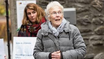 Anni Lanz im Dezember 2018 vor der Verhandlung beim Bezirksgericht Brig.