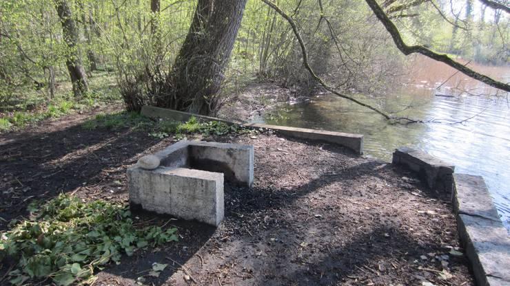 Bilder von den Grillplätzen: Grillplatz beim Badeplatz Brestenberg in Seengen.