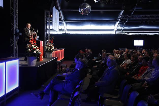 Roger Saudans Ansprache vor den geladenen Gästen