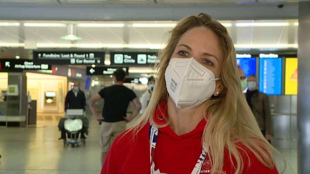 Weltmeisterinnen: Die erfolgreichen Curlerinnen sind zurück in der Schweiz