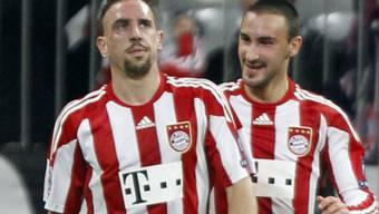 Diego Contento (r.) Passgeber beim 1:0 der Bayern durch Ribéry