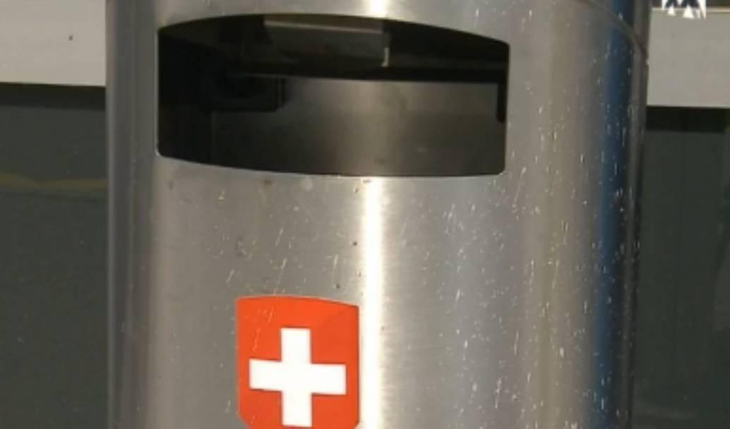 Jubelnde Abfallkübel in Olten sollen gegen Littering helfen
