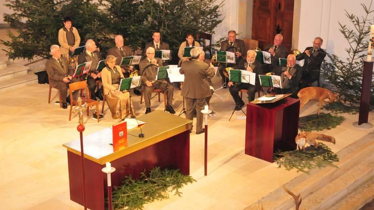 Musikalische Begleitung: Die Jagdhornbläser Falkenstein/Oberaargau bildeten den feierlichen Rahmen während des Gottesdienstes.