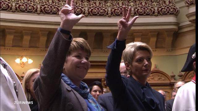 Keller-Sutter und Amherd in den Bundesrat