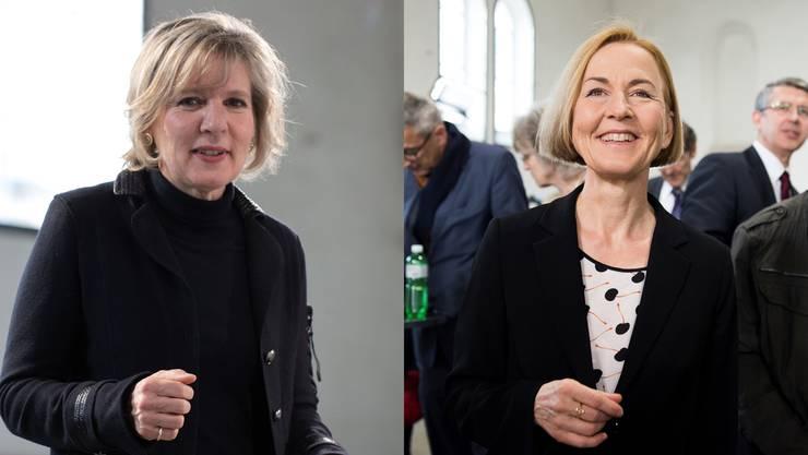 Die JUSO empfiehlt sowohl Susanne Schaffner (rechts) als auch Brigit Wyss zur Regierungsratswahl.