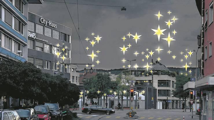 Am Weihnachtsmarkt wir die neue Beleuchtung vorgestellt, welche ab Dezember 2012 das Zentrum Dietikons erhellen soll. Die ersten Reaktionen fallen positiv aus.