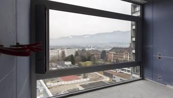 Die Kinderpraxis zieht nicht in den Neubau, ist aber von den neuen Zimmern aus zu sehen (rotes Gebäude rechts).