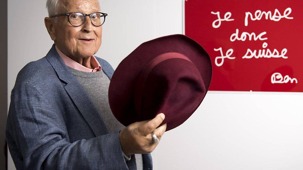 Im Alter von 74 Jahren gestorben: der Grafikdesigner und frühere Direktor der Lausanner Kunsthochschule, Pierre Keller. (Archivbild)