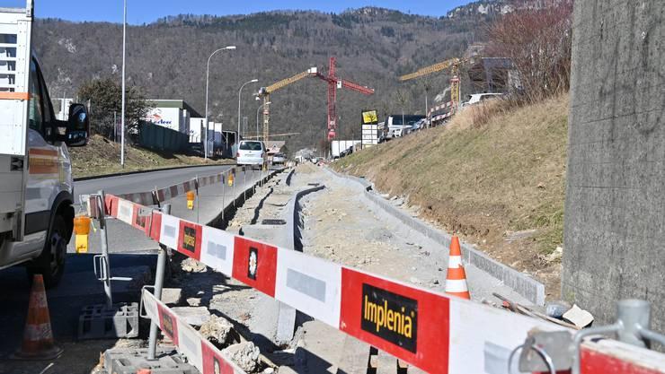 An der Unterführungsstrasse werden Bauarbeiten durchgeführt.
