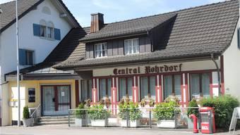Das Restaurant Central mit geschlossenen Türen