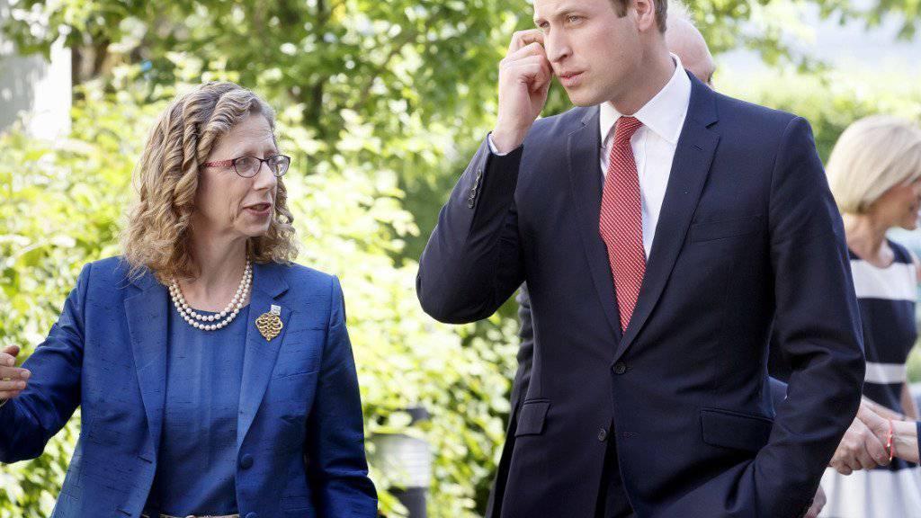 Prinz William engagiert sich für den Schutz der Wiltiere, hier bei einem Besuch bei der Weltnaturschutzunion in Gland VD im Mai 2015.