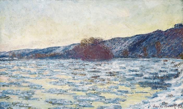 Sie zählen zu den unbestrittenen Hauptwerken der Sammlung Langmatt: Claude Monets «Eisschollen im Dämmerlicht» (1893).
