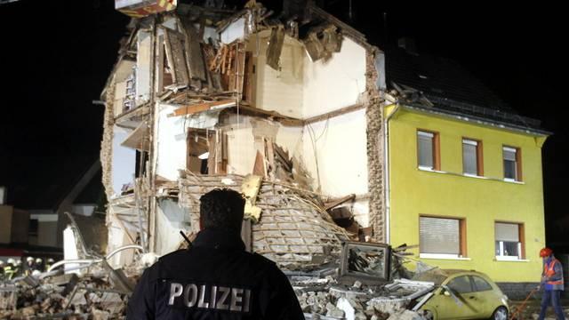 Der grösste Teil des Gebäudes stürzte wegen der starken Explosion ein