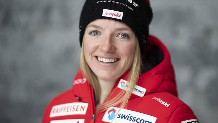 Nadine Fähndrich strahlt.