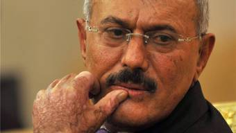 Künftig vor Strafverfolgung geschützt: Jemens Präsident Saleh.
