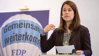 Die FDP-Präsidentin Petra Gössi bei einer Rede.