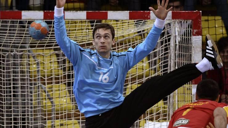 Der Schweizer Nationalgoalie Nikola Portner zeigte in Slowenien eine starke Leistung