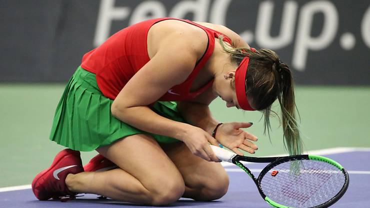 Aryna Sabalenka glich mit ihrem Sieg gegen Sloane Stephens für den Aussenseiter Weissrussland zum 1:1 aus