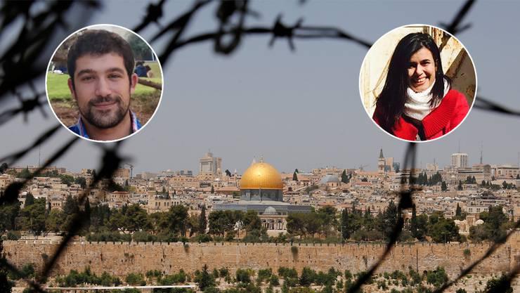 Blick durch den Stacheldraht auf den Tempelberg in der geteilten Stadt Jerusalem. Nathan und Isra erleben den Konflikt täglich.