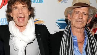 Die Rolling-Stones-Ikonen Mick Jagger (l.) und Keith Richards (Archiv)