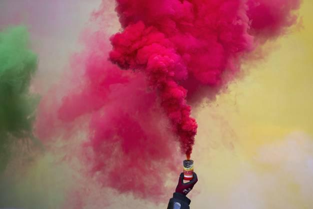 Auch viel farbiger Rauch war zu sehen.