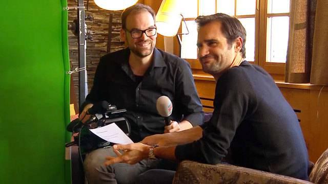 Hinter den Kulissen: Spass mit Roger Federer