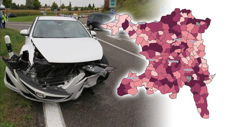 Bei diesem Unfall im September 2017 in Oberwil-Lieli zog sich eine Frau mittelschwere Verletzungen zu.
