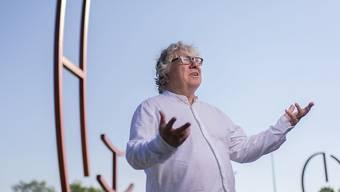 Christoph Nix, Intendant des Stadttheater Konstanz, bei der Kunstgrenze zwischen Konstanz und Kreuzlingen.