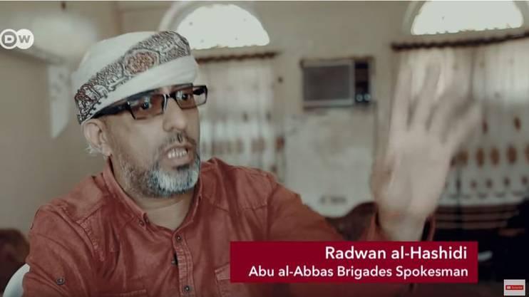 Ein Sprecher der Abu-al-Abbas-Brigaden im Beitrag der «Deutschen Welle».