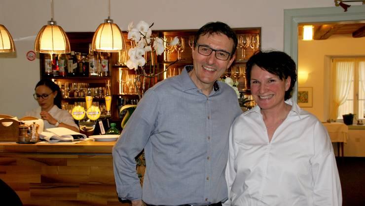 Gerhard und Esther Keller, Inhaber des Gasthaus Bären Hottwil, freuen sich über den gelungenen Erweiterungs- und Umbau.