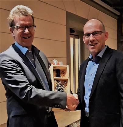 Hans-Peter Steuri und René Lüscher, der abtretende und der neue Präsident