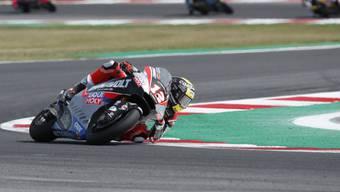 Tom Lüthi im Moto2-Rennen in Misano auf der Verfolgung der Top-3-Fahrer