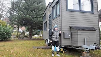 «Ich war hin und weg»: Für Ramona Schilling geht mit ihrem Tiny House ein lang gehegter Traum in Erfüllung.