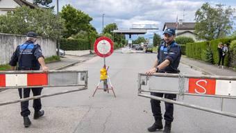Wegen Corona geschlossene Grenze zu Frankreich in der Region Genf (Juni 2020)