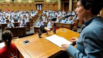 "Nationalratspräsidentin Pascale Bruderer macht den Nachwuchspolitikern Mut: ""Geht Euren Weg!"""