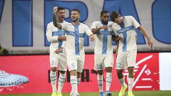 Einmal mehr siegte Marseille daheim gegen Saint-Etienne, diesmal dank einem Treffer von Dario Benedetto (9)