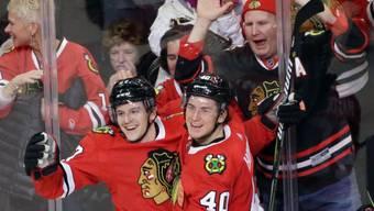 Tommy Wingels (links) bringt NHL-Erfahrung in die Westschweiz (Achriv)