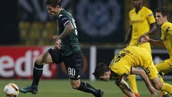 Dortmund mit Julian Weigl (rechts) kam beim Gastspiel in Krasnodar ins Straucheln und verlor 0:1