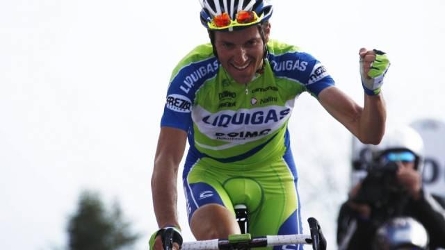 Ivan Basso beendete Etappe als Zweiter